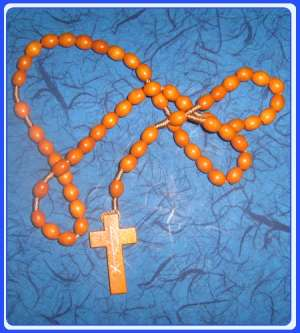 E6123015 BR - WR005 - Natural wood Rosary of Our Lady