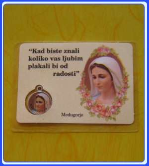 PC_CR102 Medjugorje Prayer Medal Card - Croatian